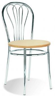 Кафе стол VENUS wood chrome