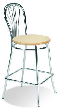 Бар стол VENUS hocker wood chrome